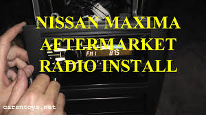 nissan maxima aftermarket radio install bluetooth hd