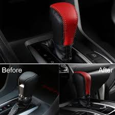 cover leather gear shift knob civic sedan hb 2016 up