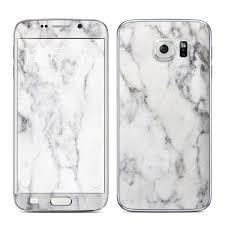 samsung galaxy s6 edge white. samsung galaxy s6 edge skin - white marble by collection | decalgirl