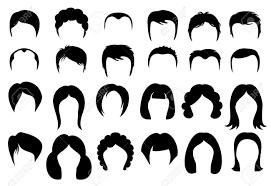 女性と男性の髪ベクトル髪型シルエット アイコン スタイルファッション