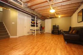Flooring Ideas Basement Flooring With Laminate Floor Type And - Exposed basement ceiling