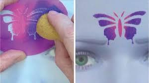 learn to create and apply stencils face painting made easy part 6 you