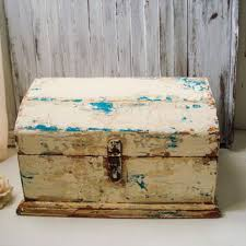 shabby chic storage box heavily distressed patina rustic vintag