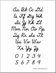 Cursive Letters Chart Cursive Letters Alphabet Chart Poster And Handwriting