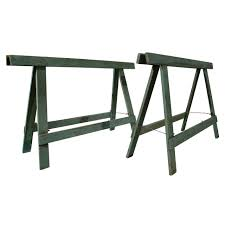 Sawhorse table legs Rustic 1940s Industrial Sawhorse Work Table Legs For Sale 1stdibs 1940s Industrial Sawhorse Work Table Legs At 1stdibs
