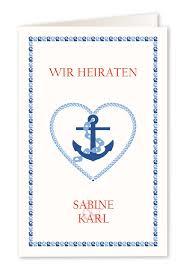 Hochzeitskarten Im Maritimen Stil Mit Strand Meer Und Muscheln