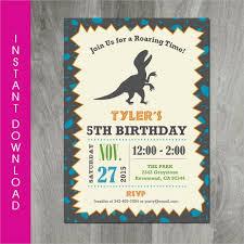 26 Dinosaur Birthday Invitation Templates Free Sample