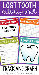 Lost Tooth Activity Pack Graphs Certificates Writing