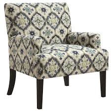 Blue And Brown Accent Chair Accent Chair With Kaleidoscope Pattern Blue Green Accent