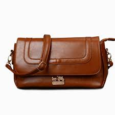 Coach Madison In Saffiano Medium Brown Crossbody Bags OA13