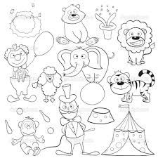 last minute circus pictures to color coloring of animals preschool funny draw