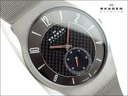 1more rakuten global market skagen thin mens watch 805 carbon skagen thin mens watch 805 carbon titanium gray carbon dial seconds universal belt 805 xlttm