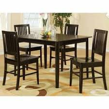 take a fresh approach to cal dining with the curtis dining collection this dinette set in wenge finish is flanked by slat back chair