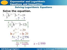 4 solving logarithmic equations