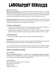 Free Sample Resume For Medical Laboratory Assistant Best Resume For