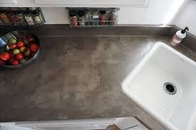diy concrete counters over laminate using feather finish concrete skim coat