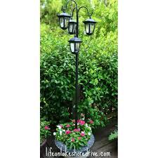 Easy Diy Solar Lights Lamp Post With Flower Planter Garden Solar