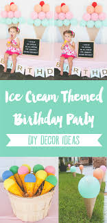 Diy Party Printables Ice Cream Themed Birthday Party Diy Decor Ideas The