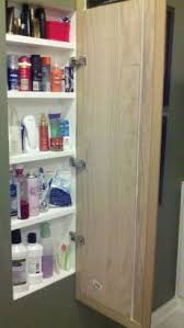 built in bathroom medicine cabinets. We Cut A Hole In The Bathroom Wall And Built Shelves. Then Used Medicine Cabinets D