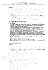 Financial Analyst Intern Resume Samples Velvet Jobs