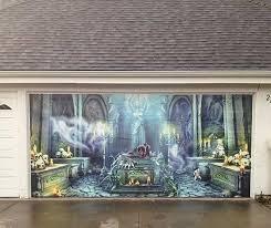 garage door wrapsGarage Door for Halloween  Wall Wraps  Gatorwraps