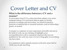 Difference Between Cover Letter And Resume Cv And Cover Letter