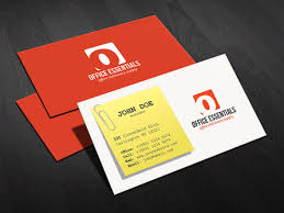 Office Stationery Design Templates Creative Office Supplies Business Card Template Free