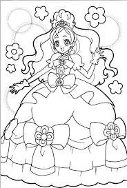 Trọn bộ tranh tô màu công chúa Chibi đẹp nhất