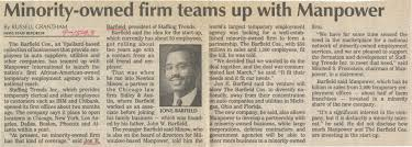 international business machines ibm old news minority owned firm teams up manpower