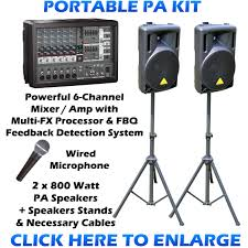 sound system kit. portable pa sound system kit. back to list kit a