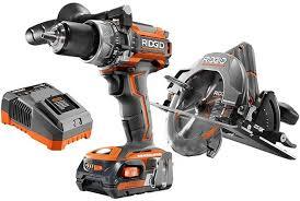 ridgid tools saw. ridgid r9206 brushless hammer drill and circular saw combo kit tools -