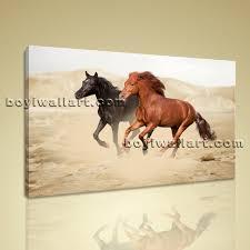 Love Bedroom Decor New Hd Print Wall Art On Canvas Horse Running Love Bedroom Decor