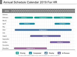 Schedule Calender Annual Schedule Calendar 2019 For Hr Presentation
