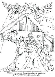 nativity coloring sheet manger scene coloring page