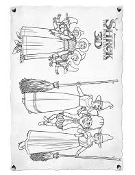 Small Picture Shreks enemies coloring pages Hellokidscom