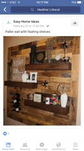 Dining Room Remodel  Pallet Wall + Floating Shelves - Home Decor