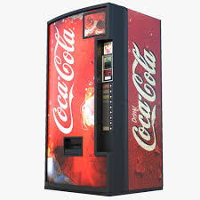 Vending Machines Soda Impressive 48D Model Lowpoly Soda Vending Machine CGTrader