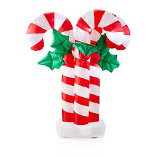 Candy Cane Yard Decorations Winter Lane 60' Inflatable Candy Cane Cluster Yard Decoration 47