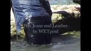 Wet jeans fetish women