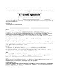 Another Word For Rent Sample Roommate Agreement Form Free Documents In Word Rental The Pdf