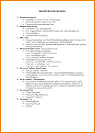 9 Business Plan Layout Coaching Resume Pdf Outline Template Free