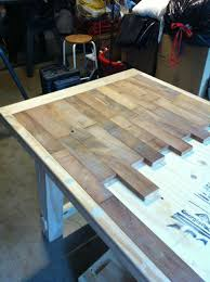 Kitchen table top Granite Kitchen Table Finally Use For That Old Reclaimed Hardwood Floor Ive Been Saving Pinterest Kitchen Table In 2019 Ideas For The House Diy Furniture Wood