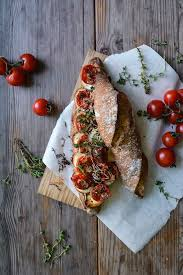 Grilled Tomato, Chèvre and Thyme <b>Baguette</b> Sandwich — Meike ...