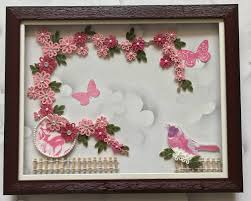 Paper Quilling Flower Frames Paper Quilling Wall Art Images One Of My Newest Creation Of Paper