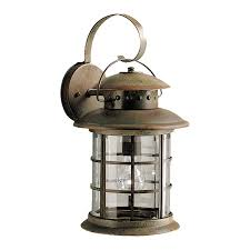 kichler rustic 17 75 in h rustic outdoor wall light