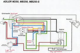 adler motorcycles technical info mb250 wiring diagram