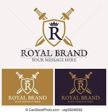 Crown Template Fascinating Letter R With Crown Shield Two Crossed Swords Letter R With Crown