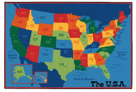 carpets for kids value plus usa map tufted area rug reviews wayfair throughout world