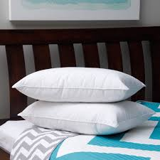 down pillows on