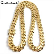 316l stainless steel jewelry high polished cuban link necklace for men punk curb chain dragon